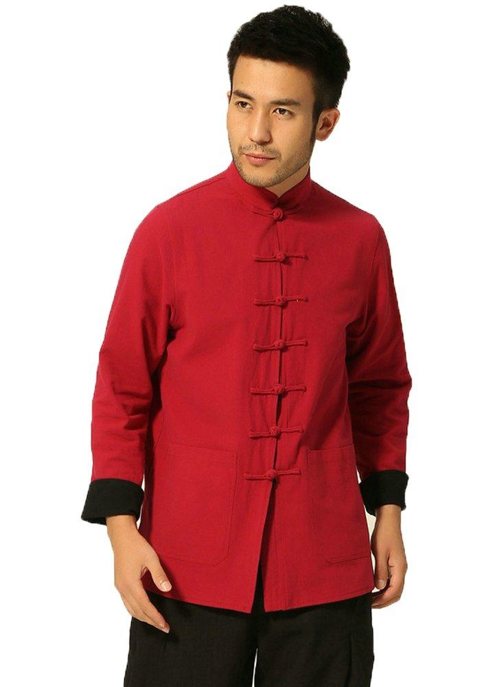 ZOOBOO Hombres de Kung Fu chaqueta ambos lados desgaste artes marciales Top