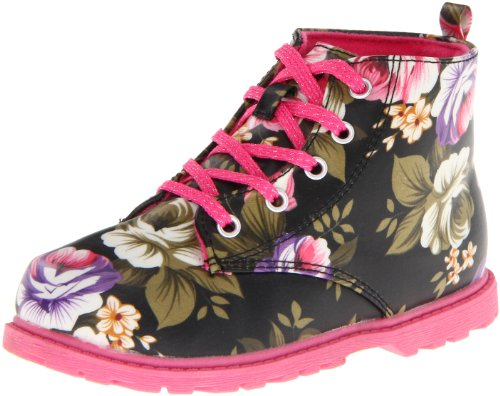 Natural Steps Bouquet Lace-Up Boot (Infant/Toddler) - stylishcombatboots.com