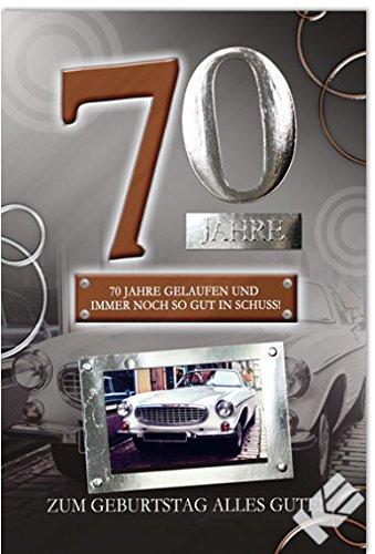 Karte Zum 70 Geburtstag Oldtimer B6 Umschlag Amazon De