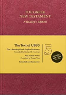 Biblia hebraica stuttgartensia a readers edition hebrew edition greek new testament the text of ubs 5 readers edition english and greek fandeluxe Gallery