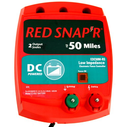 Red Snap'r EDC50M-RS Battery Operated Solid State Fence Charger, - Fencer State Solid