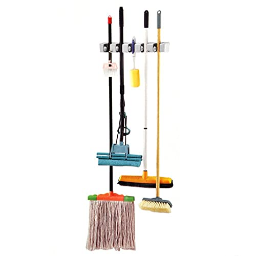 TRIXES Support de rangement mural pour balais, clubs de golf, mops, outils de jardin