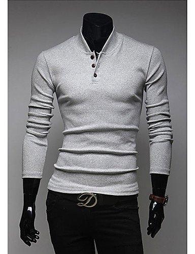 HBJ v de la camisa de polo de adelgazamiento cuello alto (gris ...
