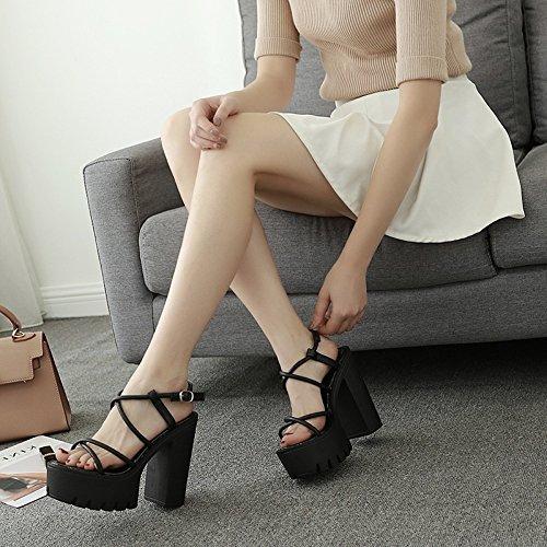 RUGAI-UE Ausgehöhlten Dame Sandaletten mit super High Heel Sandalen B07D3XVZHW B07D3XVZHW B07D3XVZHW Sport- & Outdoorschuhe Hohe Qualität und günstig d81ee5