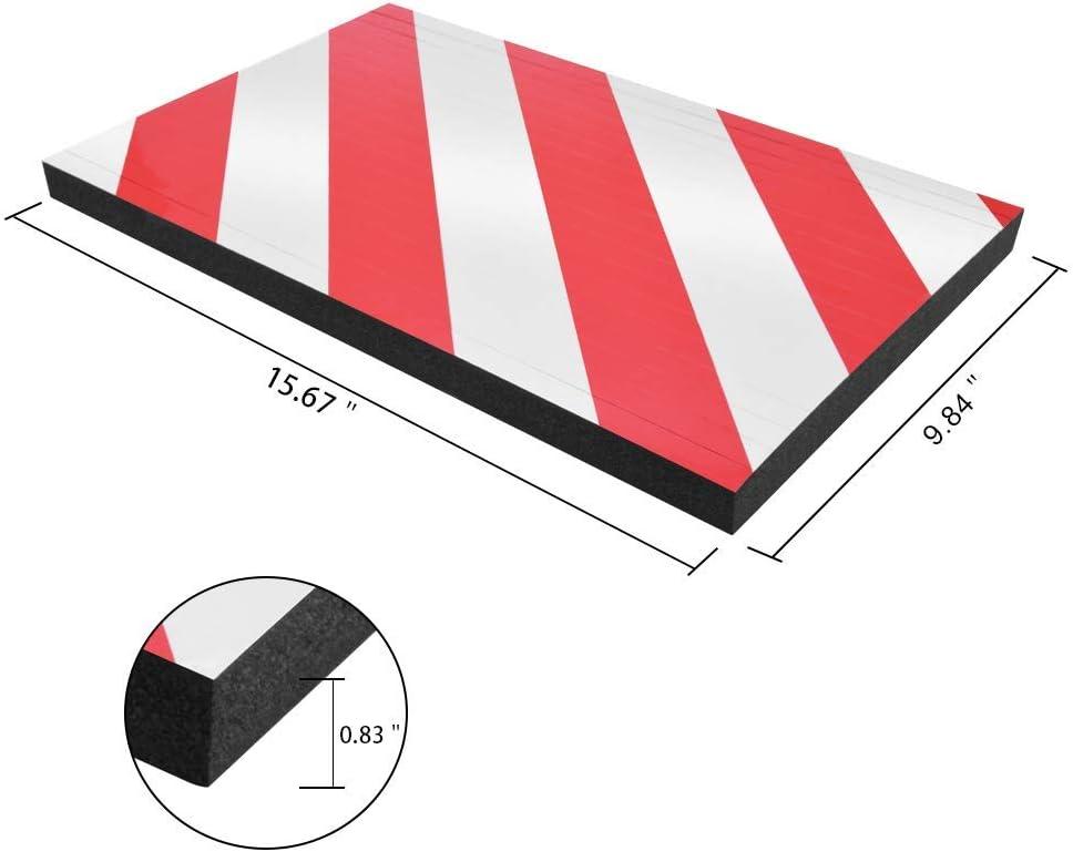 Garagenwandwarnung Corner Guard Foam Ladekantenschutz und Anti-Scratch-Gummi BEWAVE Parkplatzschutz 2 Stck, Eckensch/ützer