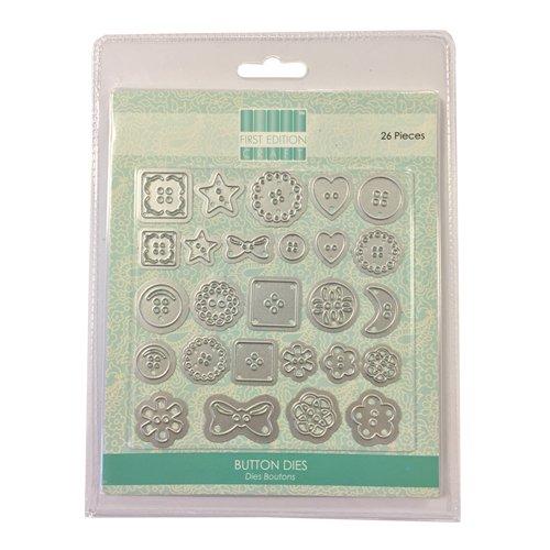 First Edition - Fustelle decorative a forma di bottoni Trimcraft FEDIE005