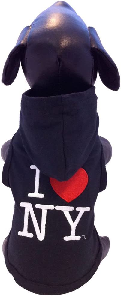 All Star Dogs I Love New York Cotton Lycra Hooded Dog Shirt X-Large