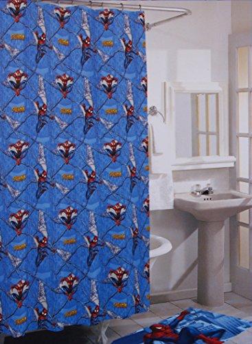 Spiderman Vinyl 70 x 72 Inch Shower Curtain with Hooks