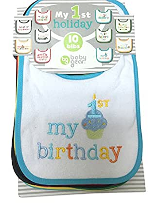 My First Holidays Baby Bibs (Set of 10)