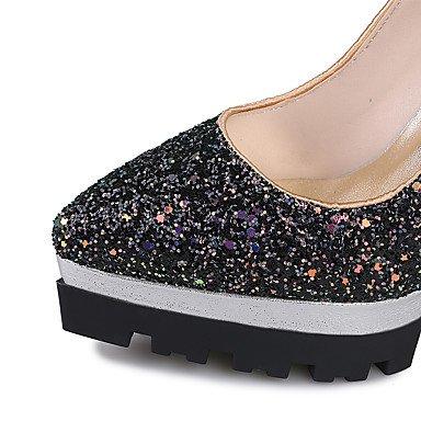 Talones de las mujeres Zapatos Primavera Verano Otoño Invierno Club de materiales personalizados banquete de boda y vestido de noche con lentejuelas estilete del talón Orange