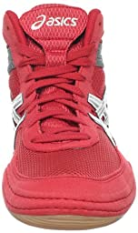 ASICS Men\'s Matflex 3 Wrestling Shoe,Red/ Silver/Charcoal,11 M US