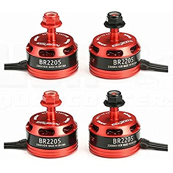 4pcs RacerStar BR2205 2205 2300kV 2-4S Brushless Motor (2)CW (2)CCW for FPV Racing Drones