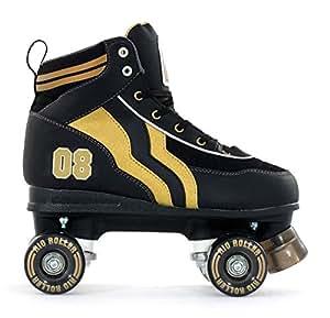 SFR Rio Varsity – patines de cuatro ruedas para adultos, para hombre/mujer, color negro/oro, color negro, tamaño 40,5 EU: Amazon.es: Deportes y aire libre
