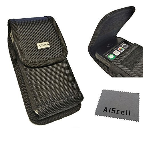 AISCELL Tactical Hip Pouch for Galaxy A50,Note 9,Note 8,S9 Plus,S10 Plus,J7,Large Rugged Nylon Case Metal Belt Clip Holster and Cloth Fits Phone with Hybrid Protective Armor Rugged Skin Cover Case