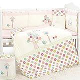 Dile Girls Baby Bedding 9 Piece Crib Set (XL, pink)