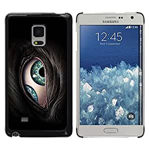TopCaseStore / la caja del caucho duro de la cubierta de protección de la piel - The Cyborg Eye - Samsung Galaxy Mega 5.8 9150 9152