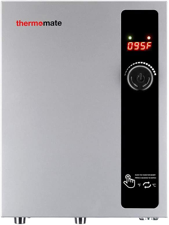 Tankless Water Heater Electric 18kW 240 Volt, thermomate On Demand Instant Endless Hot Water Heater, Digital Temperature Display and Compact Easy Installation, for Residential Whole House Shower