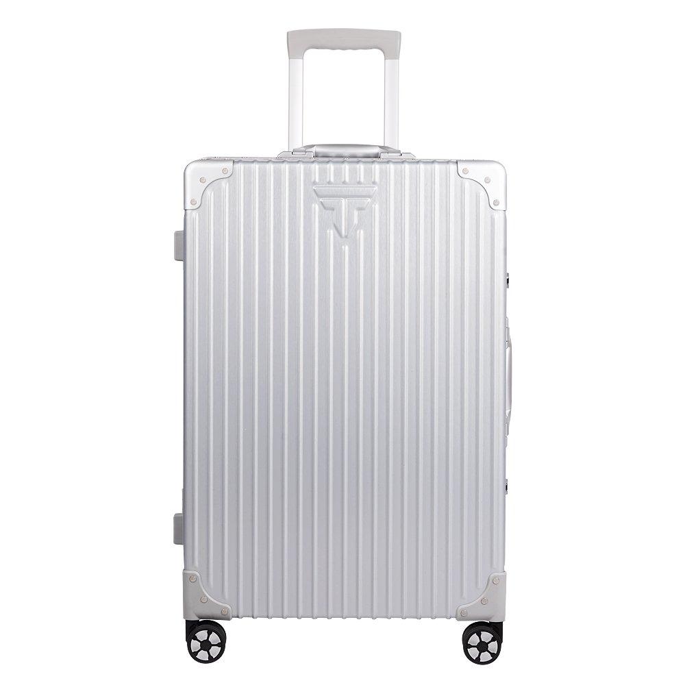 TABITORA(タビトラ) スーツケース 大型 8輪 TSAロック キャスター交換可能 止まれる 出張 軽量 大容量 静音 旅行用品 アルミフレーム B074C78ZMN Lサイズ 75L 5.3KG|一代目:銀 キャスター交換不可/止まる機能無し 一代目:銀 キャスター交換不可/止まる機能無し Lサイズ 75L 5.3KG