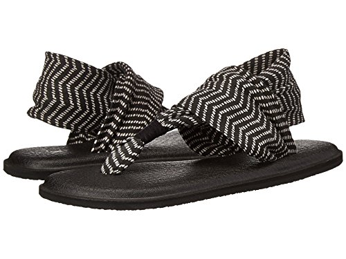Yoga Congo Sling Black Sanuk Sandals 2 Prints natural qURdyCdT