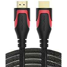 HDMI Cable - 10FT / 3m, FosPower 4K Latest Standard 2.0 HDMI Ready [UL Listed][Nylon Braided Cord] - Ultra High Speed 18Gbps - Supports 4K 2160p UHD 3D HDR 1080p (24K Gold Plated Connector)