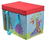 Zoo Storage Organizer by Clever Creations   Toy Box Folding Storage and Play Mat for Kids   Perfect Size Toy Chest for Organizing Books, Toys   Collapsible for Creative Play   9.5 x 10.75 x 13.75''