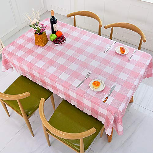 yiukh Waterproof, oilproof, Anti-scalding PVC Lattice Coffee Table, Home Dormitory Tablecloth, Small Fresh x3 4060cm