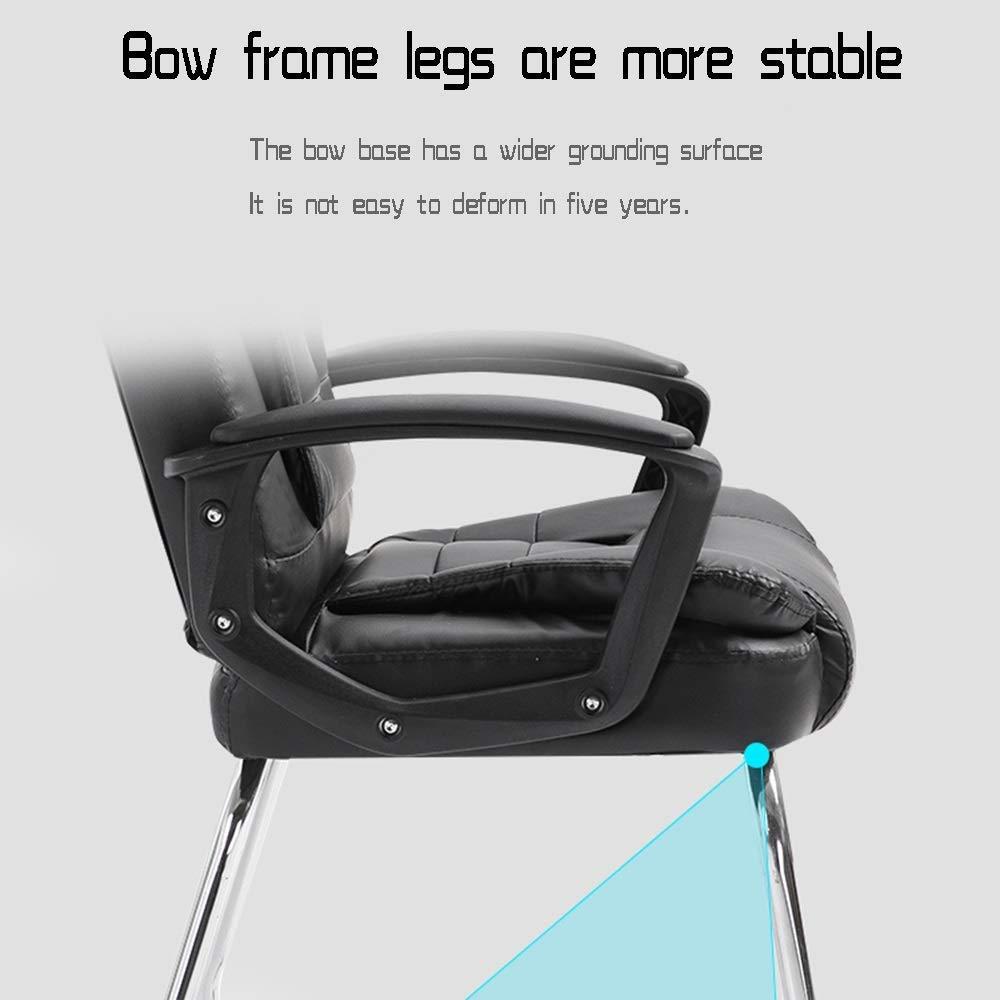 Dalovy bekväm datorstol, ergonomisk kontorsstol rosett fot läder skrivbord spelstol bärkapacitet: 150 kg Svart