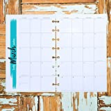 2019 Monthly Planner Inserts | Dated Calendar Pages | Discbound Junior Size | Monday Start