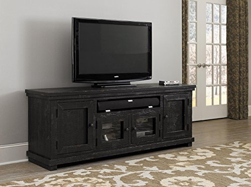 Progressive Furniture Willow Distressed Black 74