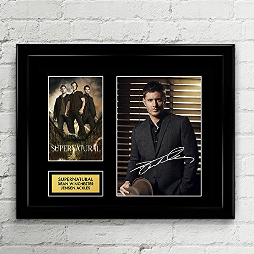 - Jensen Ackles Supernatural Signed Autographed Photo Mat Custom Framed 11 x 14 Replica Reprint Rp