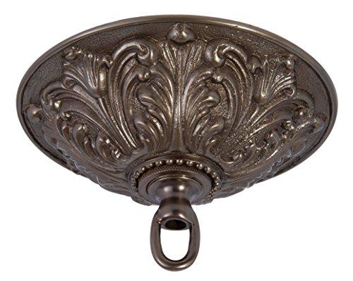 B&P Lamp Antique Bronze Finish Cast Brass Screw Collar Canopy Kit