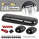 chevy oem cab lights - Partsam 3pcs Smoke Cover White Color 30 LED Cab Marker Lights Roof Top Clearance Lights for 2002 - 2007 Chevy Silverado/GMC Sierra