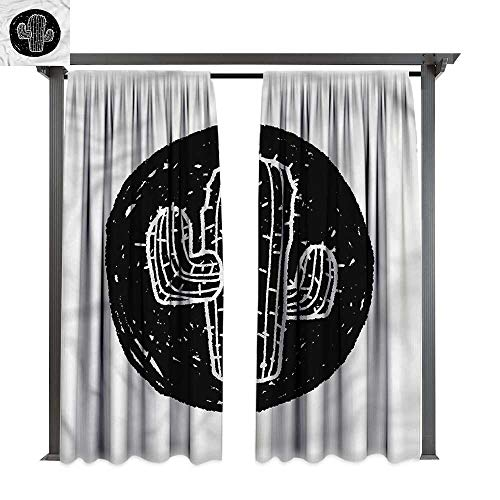 cobeDecor Thermal Insulated Drapes Cactus Saguaro Plant Theme for Lawn & Garden, Water & Wind Proof W108 xL84 -