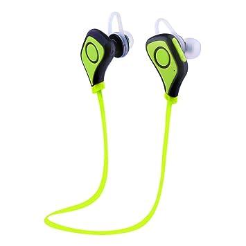 Ecandy Auriculares Estéreo Bluetooth 4.0 para Correr Cascos Ddeportivos y Resistente al Agua y Sudor.