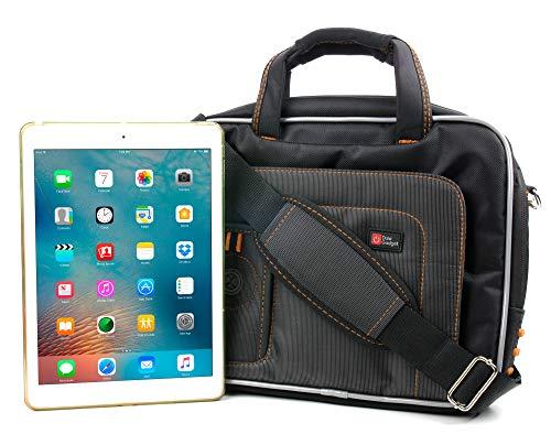 DURAGADGET Black & Orange Protective Carry Bag – Compatible with Apple iPad Air Wi-Fi/Wi-Fi & Cellular & iPad Mini…