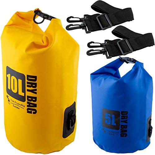 The Friendly Swede 2 Stück 500D PVC Outdoor Dry-Bags - wasserfeste Pack-Säcke