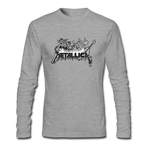 Men's Metallica Custom photo DIY Logo Long-Sleeve Cotton Cool T-Shirt Tommery XXXL