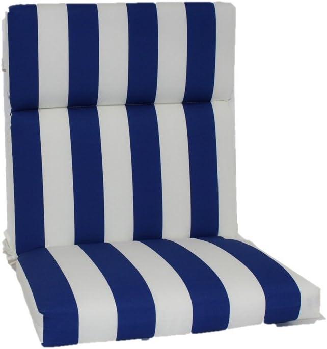 Brentwood Originals Indoor Outdoor Chair Cushion, Cabana Cobalt