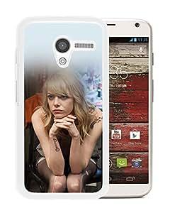 Unique Designed Cover Case For Motorola Moto X With Hf Emma Stone Birdman Actress Sexy (2) Phone Case