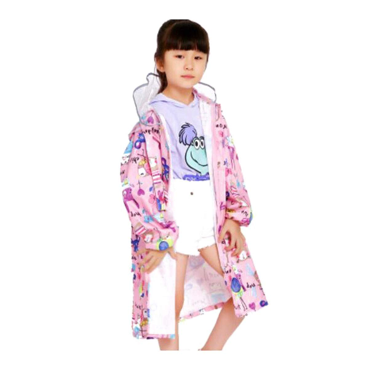 Doppelm/ütze Pink Sch/ülerinnen und Sch/üler der Grundschule Orange wasserdichter Poncho mit Taschenposition Oxford-Tuch Blau XXL faltbar CHUJIAN Regenmantel leicht zu tragen