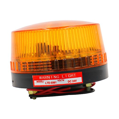 Baomain Industrial Signal Round Yellow Warning light strobe warning lamp LTE-5061 DC 24V (Signal Strobe Light)
