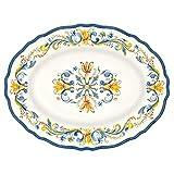 Le Cadeaux Melamine Floral Harvest - 16 Inch Platter