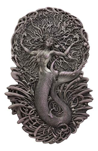 - Ebros Celtic Irish Mythology Mermaid Triple Goddess Aine Wall Decor Deity of The Sun Summer Wealth Love Fertility and Sovereignty Hanging Plaque Figurine Mother Maiden Crone Arts by Maxine Miller