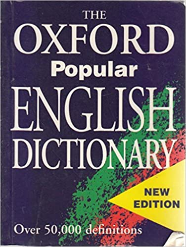 Amazon Com The Oxford Popular English Dictionary 9780752544540