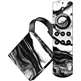 Skinit Marble Amazon Fire TV Skin - Black and White Marble Ink Design - Ultra Thin, Lightweight Vinyl Decal Protection