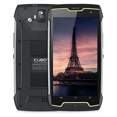 CUBOT King Kong IP68 Rugged Waterproof Unlocked Smartphone, 1.3GHz Quad Core with 5.0'' HD IPS Touch Display, 4400mAh, Android 7.0, Dual SIM/Dual Camera (13MP + 8MP), WiFi/GPS, 2GB RAM+16GB ROM, 3G