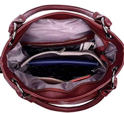 Hombro Cruzados Con Sintética Light Mujeres Para Violet Burgundy Asa Bolsos Eeayyygch Superior color De Piel gwf005