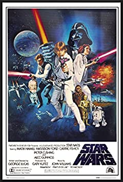 Star Wars Episode IV, V VI – Framed 3 Piece Movie Poster Print Set 3 Regular Style Posters Size 24 inches x 36 inches Each