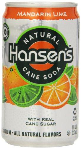 Hansen's Soda, Mandarin Lime, 7.5 Ounce (Pack of 24)