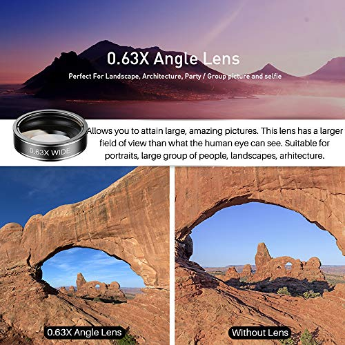 SHUTTERMOON【UPGRADED】Phone Camera Lens Kit for iPhone Xs/R/X/8/7/6s/Smartphones/Pixel/Samsung/Android Phones Camera. 2xTele Lens Zoom Lens+Fisheye Lens+Super Wide Angle Lens & Macro Lens+CPL (5 in 1)